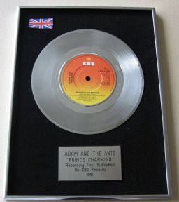 ADAM AND THE ANTS - PRINCE CHARMING Platinum Single Presentation Disc
